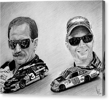 The Earnhardts Canvas Print by Bobby Shaw