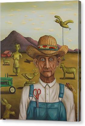 The Eccentric Farmer Canvas Print by Leah Saulnier The Painting Maniac