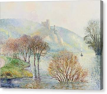The Effect Of Fog After Flooding Canvas Print by Georges Manzana