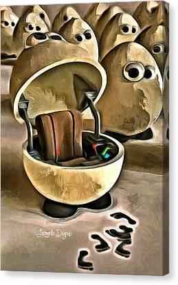 The Egg Pilot - Da Canvas Print by Leonardo Digenio
