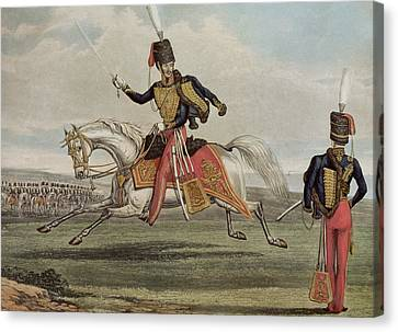 The Eleventh Hussars Canvas Print by J Earp