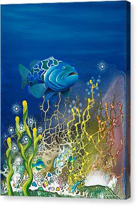 The Emerald Grouper Canvas Print by Lee Pantas