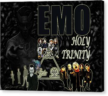 The Emo Holy Trinity Canvas Print by Kevin Sweeney