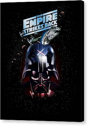 The Empire Strikes Back Canvas Print by Edward Draganski