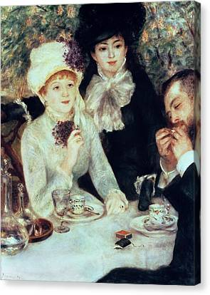 The End Of Luncheon Canvas Print by Pierre Auguste Renoir