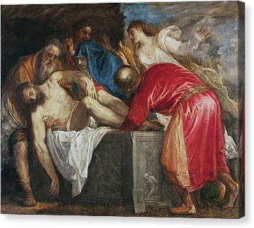The Entombment Of Christ Canvas Print by Titian