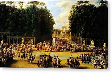 The Entry Of Napoleon And Marie-louise Canvas Print by Celestial Images