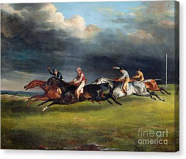 The Epsom Derby Canvas Print by Theodore Gericault