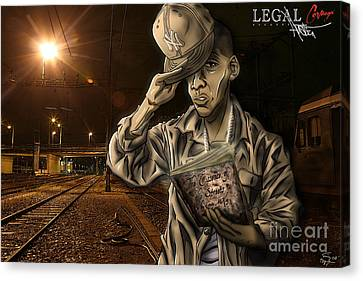 The Essence Of The Streets Canvas Print by Tuan HollaBack