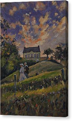 The Evening Stroll Around The Hoeve Zonneberg Canvas Print by Nop Briex