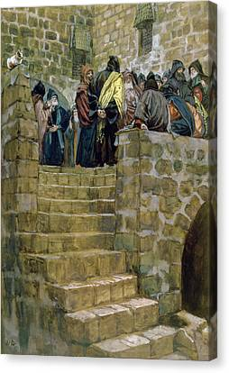 The Evil Counsel Of Caiaphas Canvas Print by Tissot