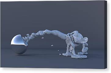 The Evolution Of Man Canvas Print by Andre Deherrera