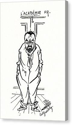 The Exclusion Of Emile Zola From The Academie Francaise Canvas Print by Aubrey Beardsley