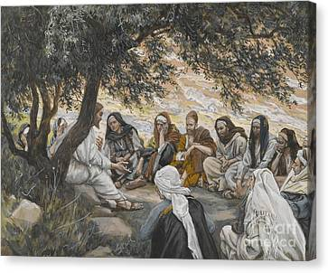 The Exhortation To The Apostles Canvas Print by Tissot
