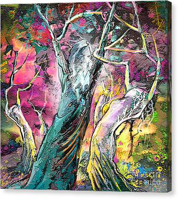 The Expulsion From Paradise Canvas Print by Miki De Goodaboom