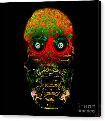 The Face Of Man Canvas Print by David Lee Thompson