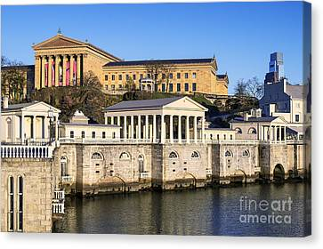 The Fairmount Water Works And Art Museum Canvas Print by John Greim