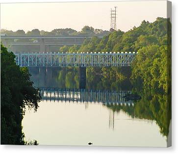 The Falls And Roosevelt Expressway Bridges - Philadelphia Canvas Print by Bill Cannon