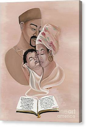 The Family Canvas Print by Toni  Thorne