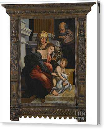 The Family With Saint Anne Canvas Print by MotionAge Designs