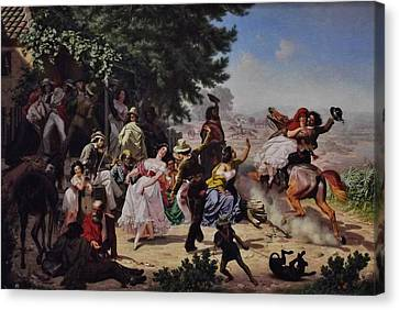 The Fandango Canvas Print by Charles Nahl