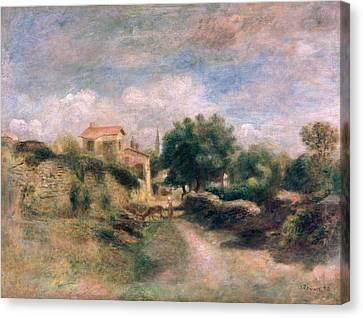 The Farm Canvas Print by Renoir