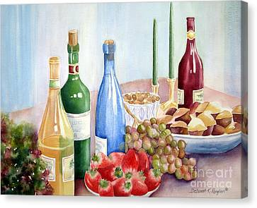 The Feast Canvas Print by Deborah Ronglien