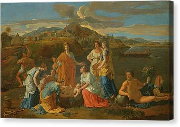 The Finding Of Moses Canvas Print by Nicolas