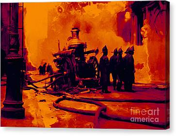 The Fire Fighters - 20130207 Canvas Print by Wingsdomain Art and Photography