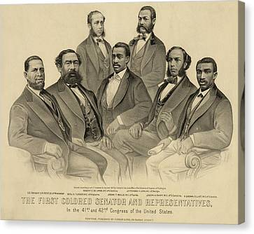The First African American Senator Canvas Print by Everett