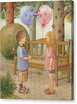 The First Date Canvas Print by Kestutis Kasparavicius