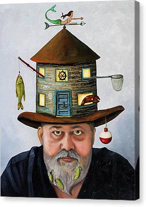 The Fisherman Canvas Print by Leah Saulnier The Painting Maniac