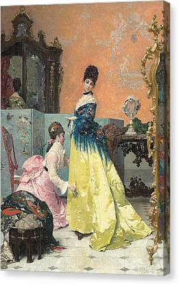 The Fitting Canvas Print by Alfred Emile Stevens