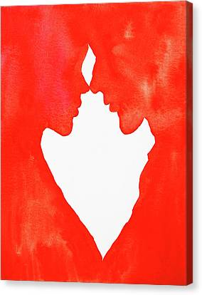 The Flame Of Love Canvas Print by Iryna Burkova