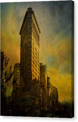 The Flat Iron Building - My Take On It Canvas Print by Jeff Burgess