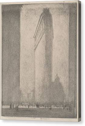 The Flat Iron New York Canvas Print by Joseph Pennell