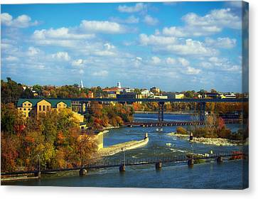 The Flats Of Appleton Wisconsin In Autumn Canvas Print by Mountain Dreams