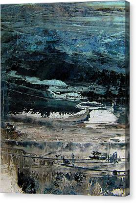 The Flood On The Rivers Canvas Print by Nancy Kane Chapman