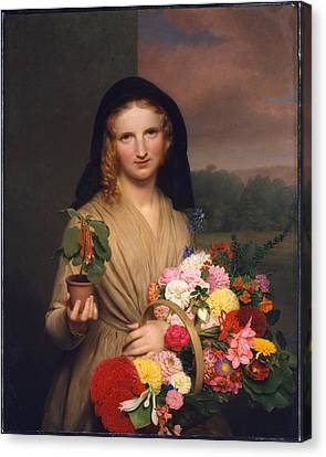 The Flower Girl Canvas Print by Charles Cromwell