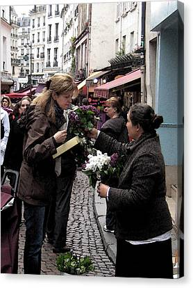 The Flower Seller Canvas Print by Lori  Secouler-Beaudry