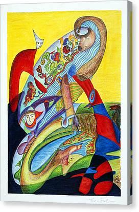 The Fool Canvas Print by Monika Kretschmar