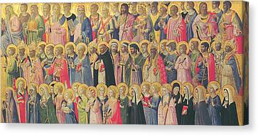 The Forerunners Of Christ With Saints And Martyrs Canvas Print by Fra Angelico