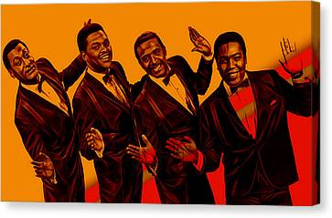 The Four Tops Collection Canvas Print by Marvin Blaine