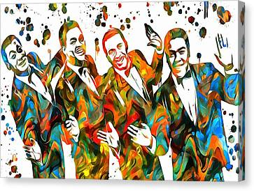 The Four Tops Paint Splatter Canvas Print by Dan Sproul