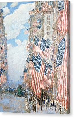 The Fourth Of July Canvas Print by Childe Hassam