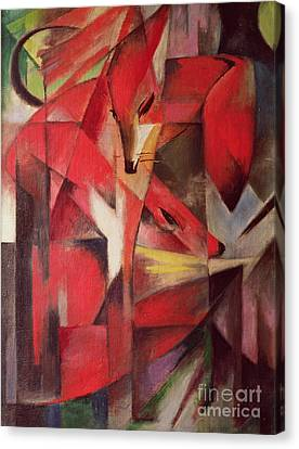 The Fox Canvas Print by Franz Marc