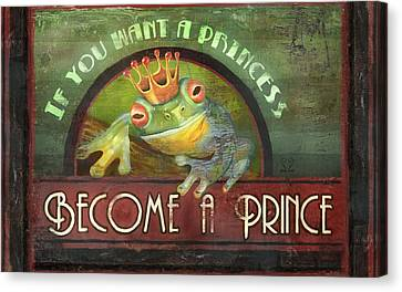 The Frog Prince Canvas Print by Joel Payne