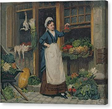 The Fruit Seller Canvas Print by Victor Gabriel Gilbert