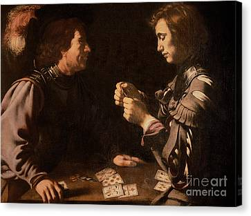 The Gamblers Canvas Print by Michelangelo Caravaggio