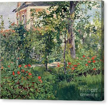 The Garden At Bellevue Canvas Print by Edouard Manet